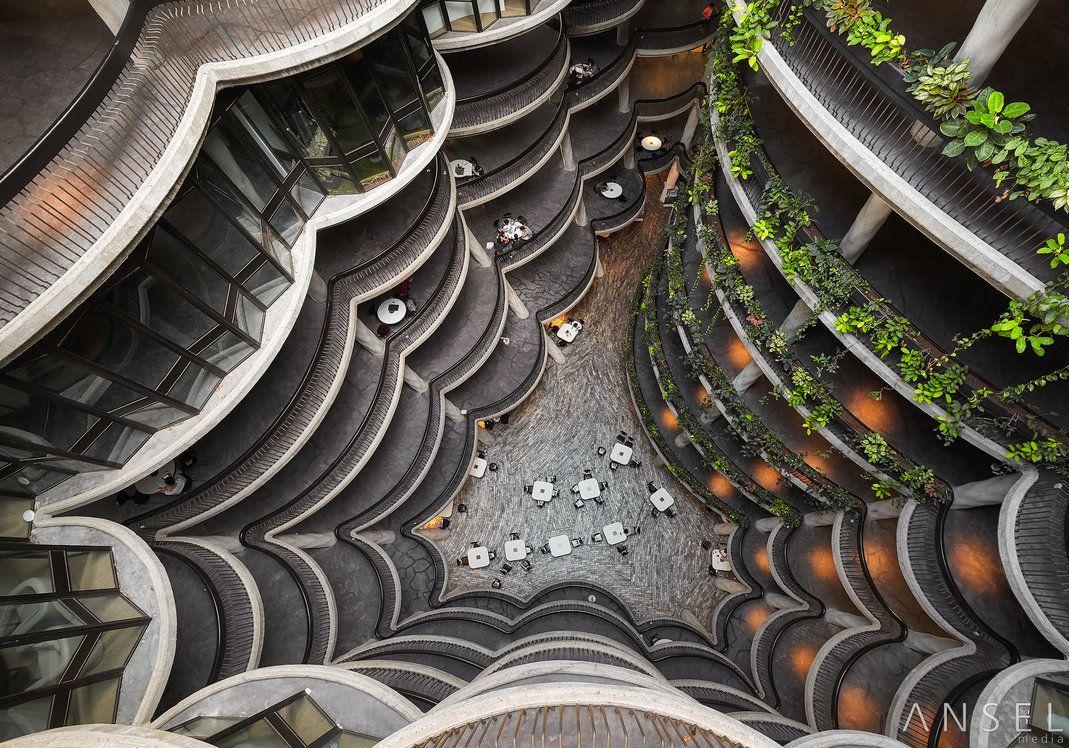 Kiến trúc ấn tượng của đại học Công nghệ Nanyang.