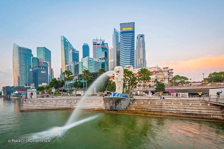 Sư tử biển - Merlion biểu tượng của quốc đảo Singapore